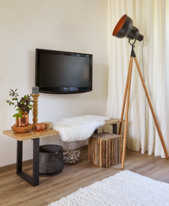 staande vloerlamp koper zwart hout hoog goedkoop natuurlijk